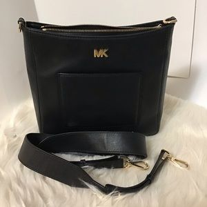 Michael Kors leather messenger  crossbody …